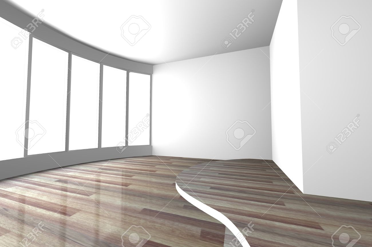 . White curve space empty room for interior design present of living