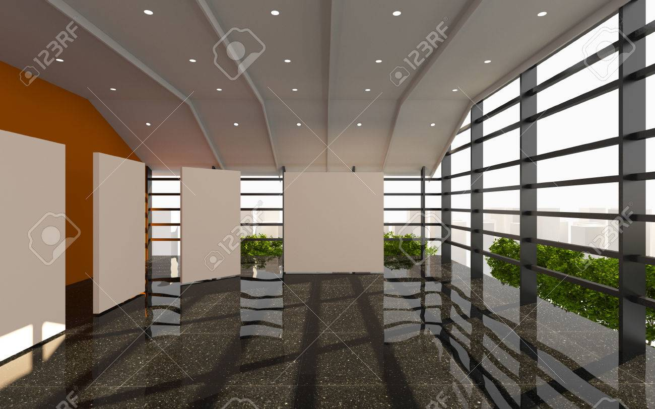 Office Interior Modern With White Blank And Black Granite Floor Stock Photo Picture And Royalty Free Image Image 29804753