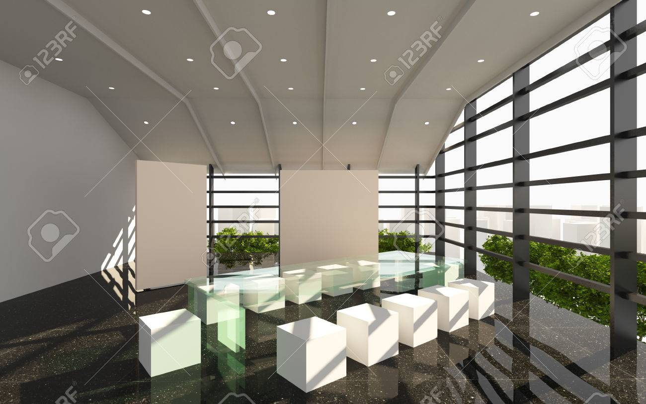 Office Interior Modern With Black Granite Floor Stock Photo Picture And Royalty Free Image Image 29804769