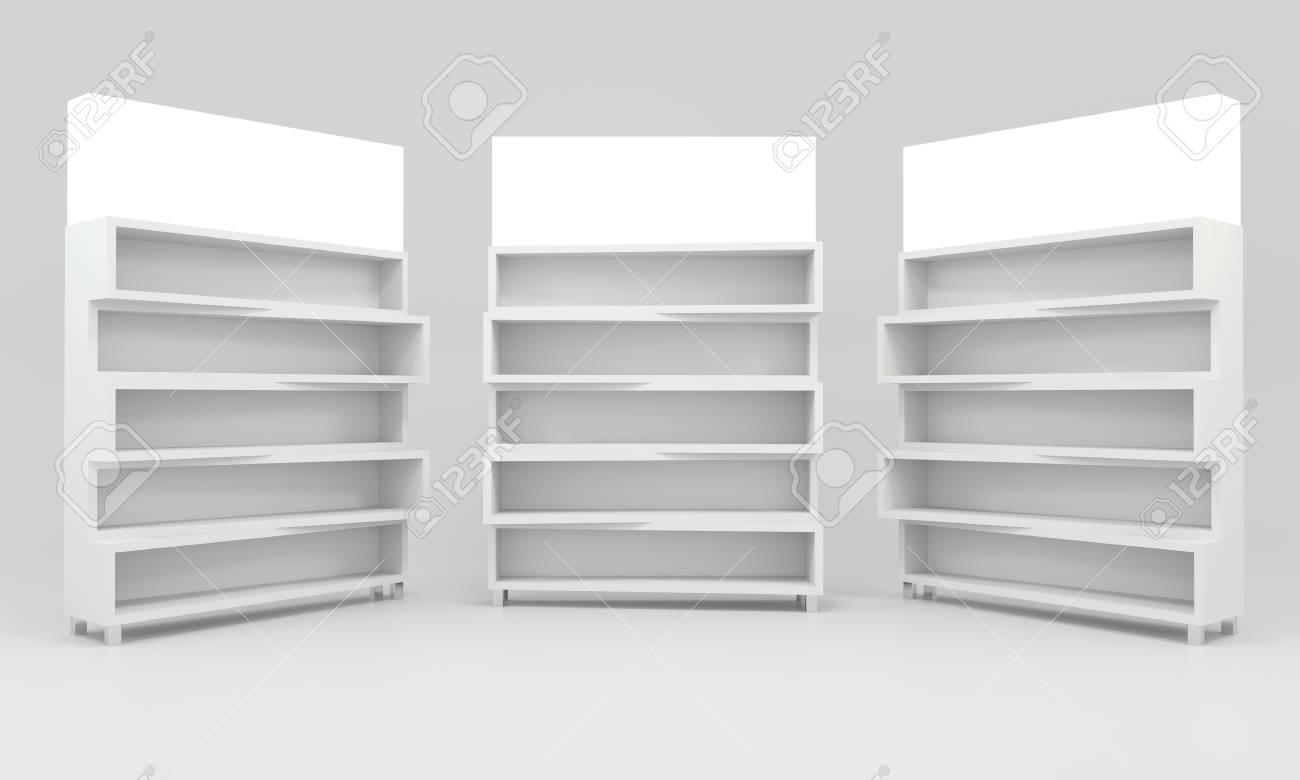 Erstaunlich Weißes Regal Ideen Von Standard-bild - Weiße Regale Design Auf Weißen