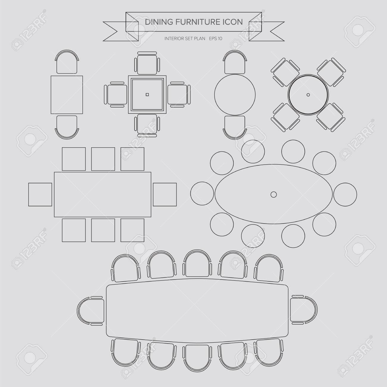 Wondrous Dinning Furniture Outline Icon Top View For Interior Plan Creativecarmelina Interior Chair Design Creativecarmelinacom