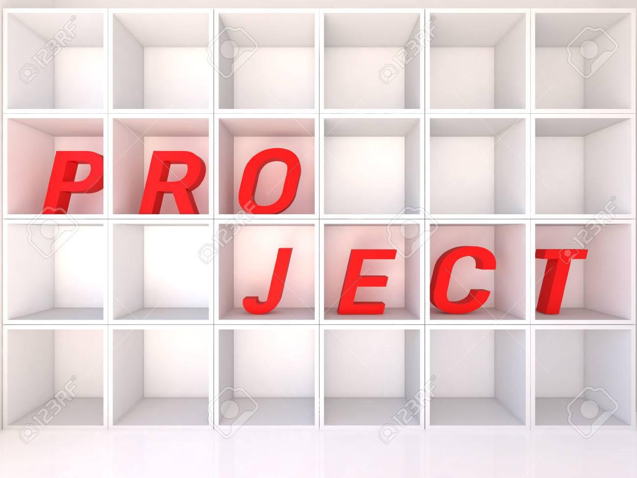 白い背景、3 D イラストレーターのプロジェクトに空の白い棚