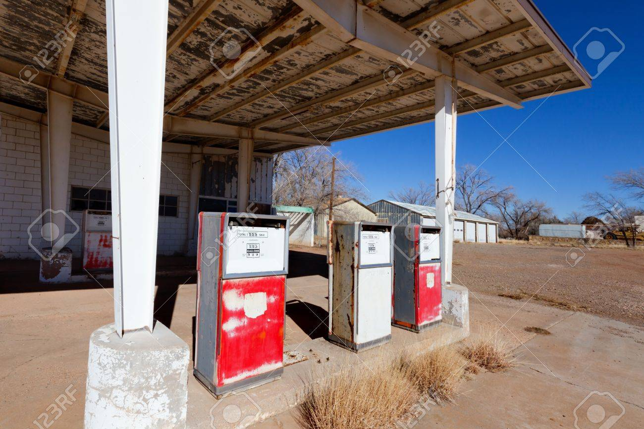Abandoned Gas Station On Route 66 Stock Photo Picture And Royalty Free Image Image 17569464