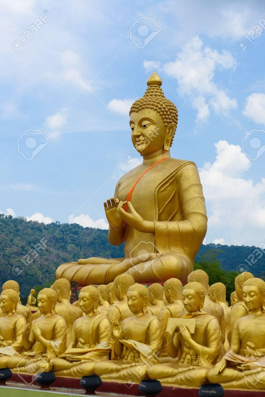 buddha image of lord buddha among the 1 250 monks the symbol