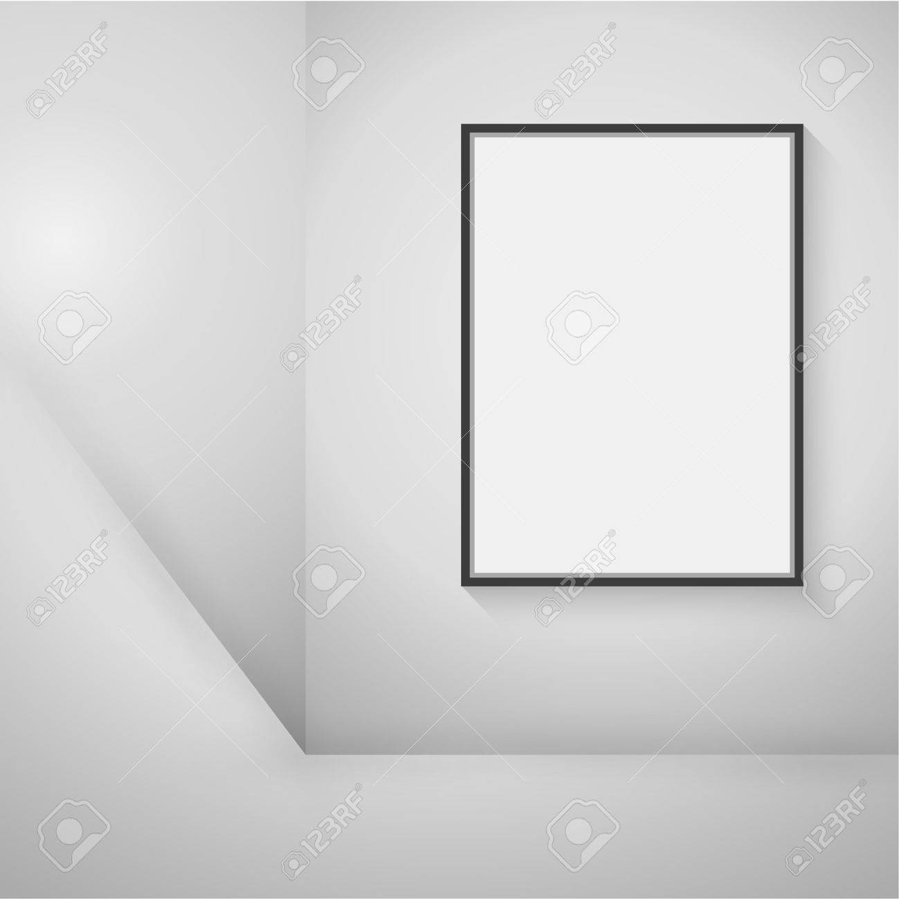 Leere Schwarzen Rahmen Hängen An Der Wand In Den Raum Für Eine ...