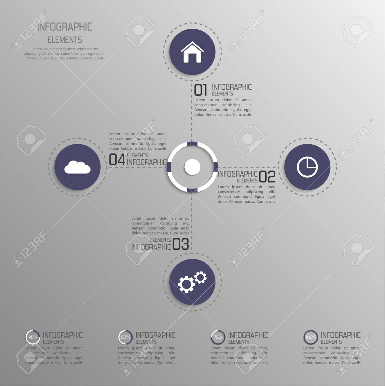 Moderne Vorlage Mit Bunten Infografiken Volumenelemente Können ...