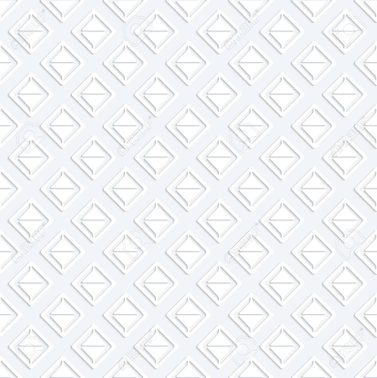 Modern seamless pattern with white geometrici figures separated from each other. Stock Vector - 26613274