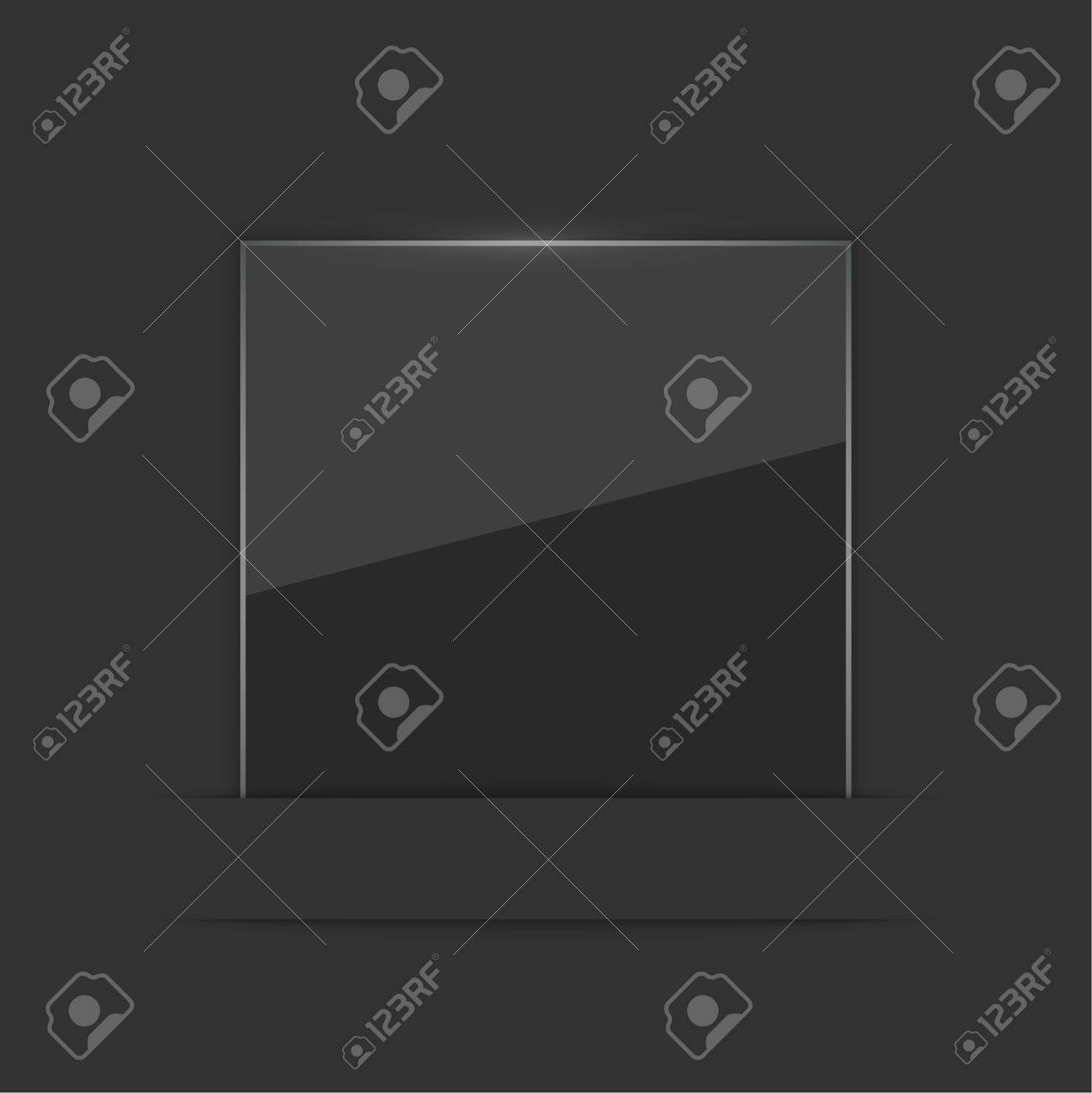 Glowing glossy glass panel with a black .  for advertising, classified ads, layouts, web, internet, website, with frame for text Stock Vector - 27571199