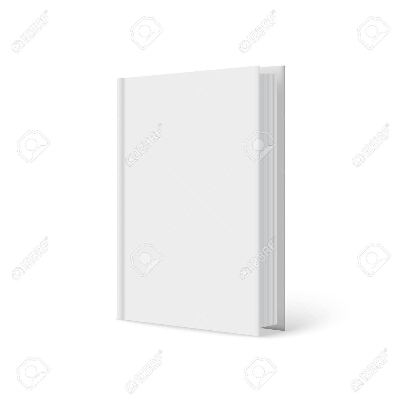 Verticalmente De Pie Libros Plantilla Sobre Un Fondo Blanco ...
