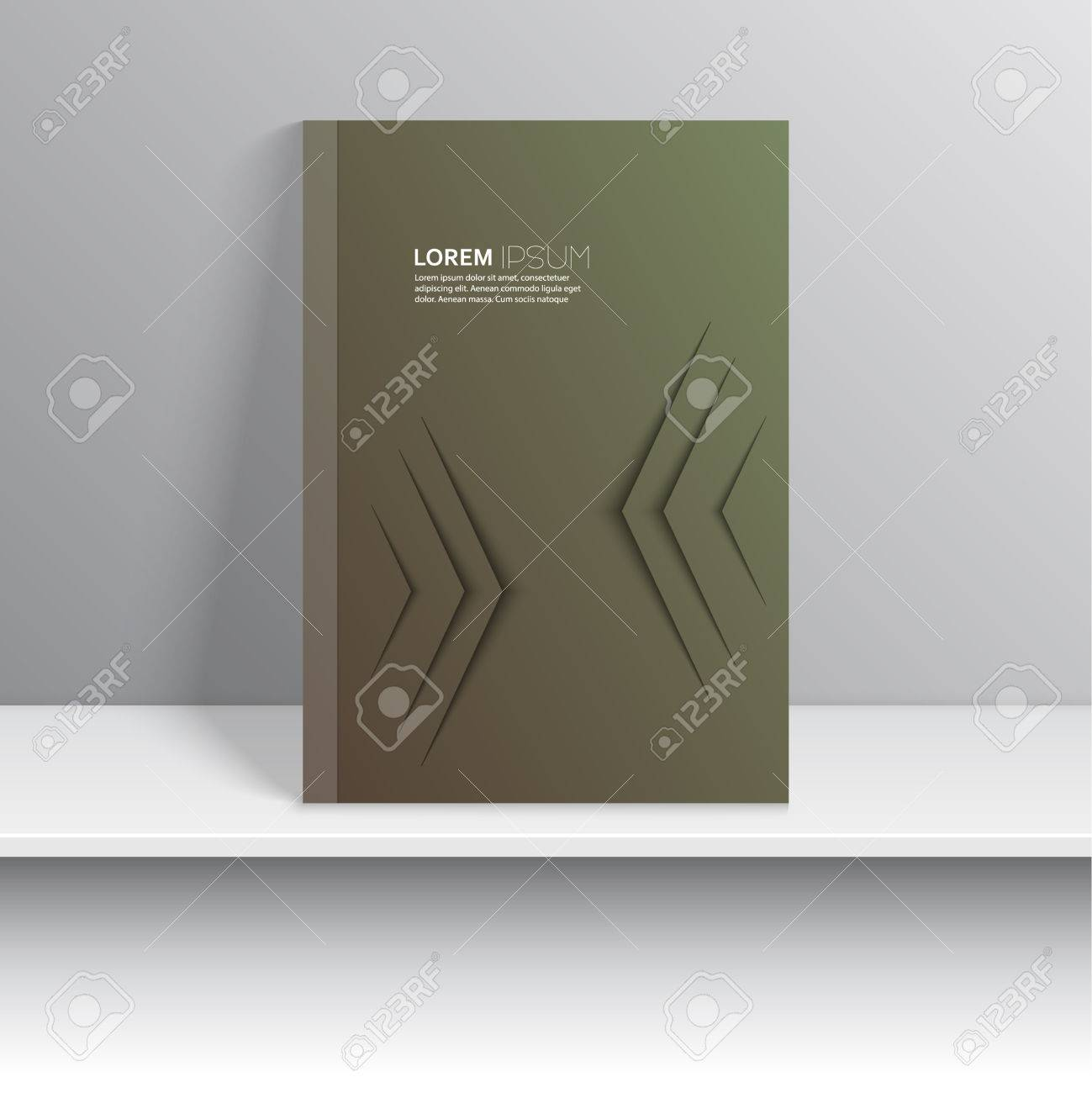 Couverture De Magazine Avec Des Lignes Courbes Design Plat Moderne