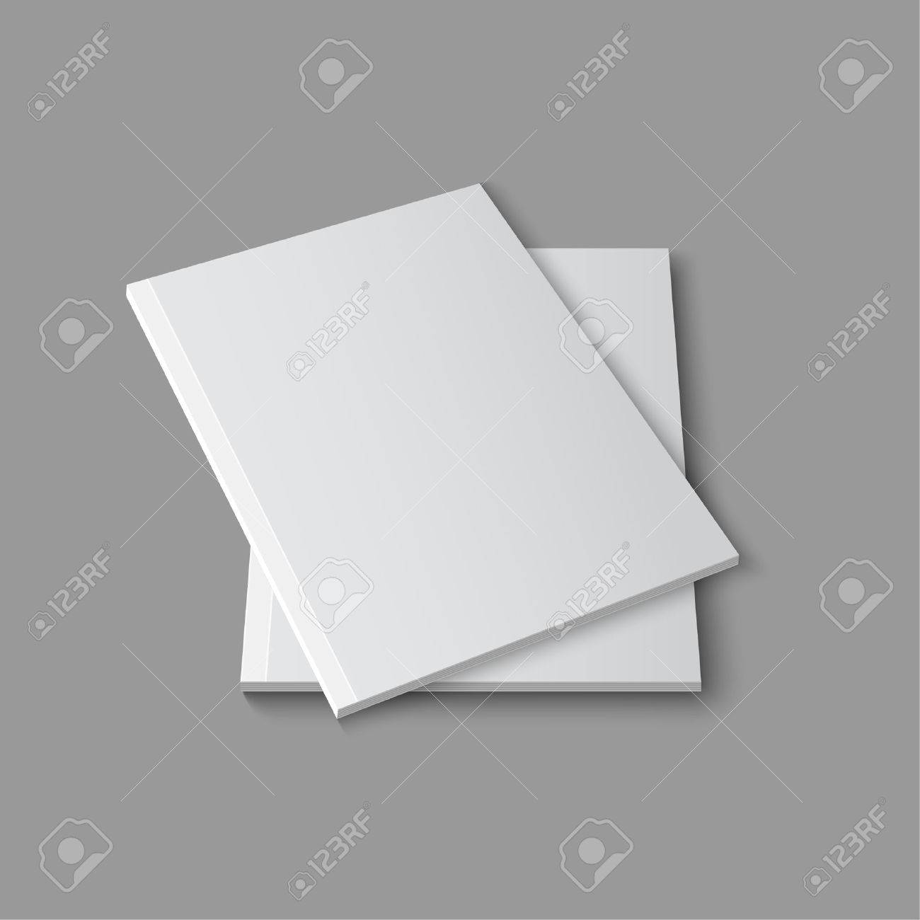 Cargador Vacío En Blanco O Una Plantilla De Libro Acostado En Un ...