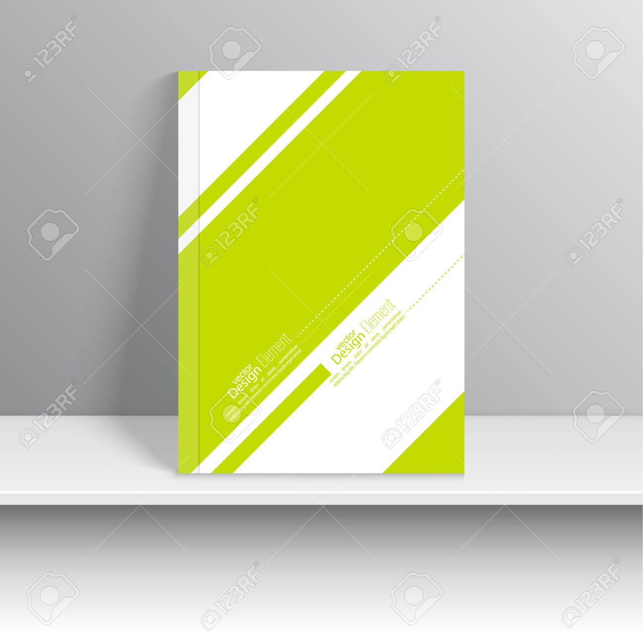 Magazine Cover Green With Diagonal Lines And Dots. Modern Flat ...