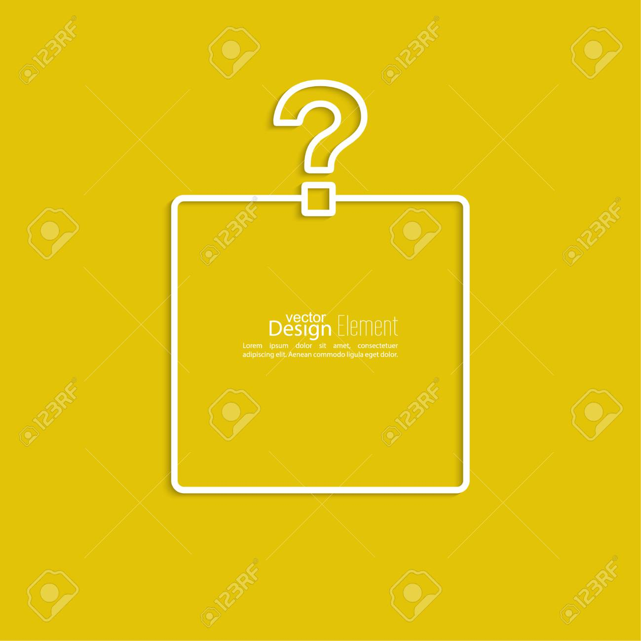 Question Mark Icon Help Symbol Faq Sign On A Yellow Background