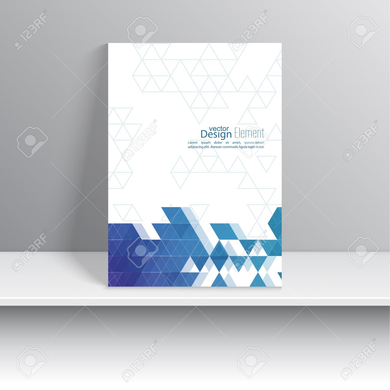 Magazine Cover With Pattern, Hipster Triangle. Modern Flat Design ...