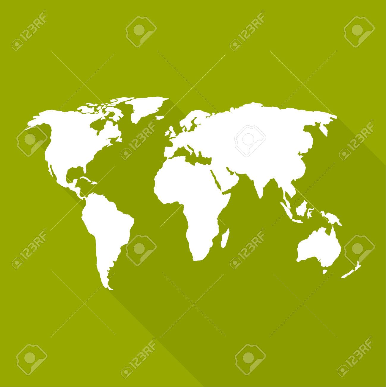 World map a flat design long shadow for web and mobile app vector world map a flat design long shadow for web and mobile app gumiabroncs Image collections