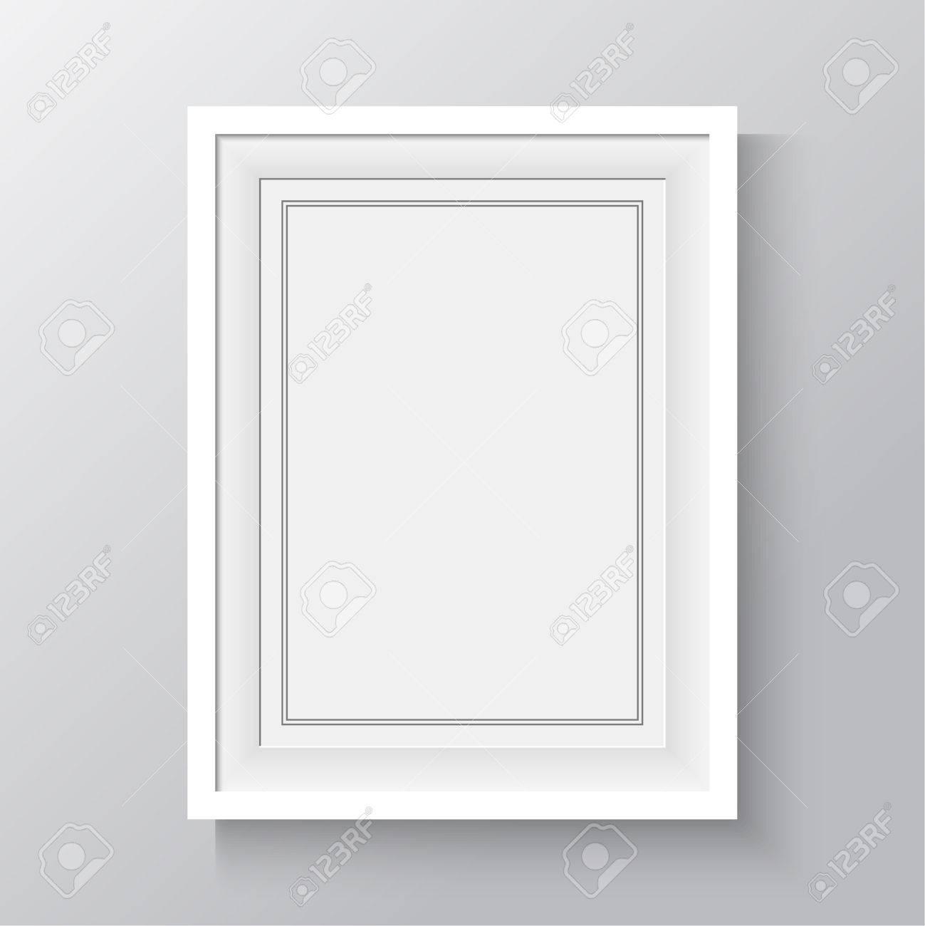 Marco Blanco Para Pinturas O Fotografías En La Pared. A4, A3 Papel ...