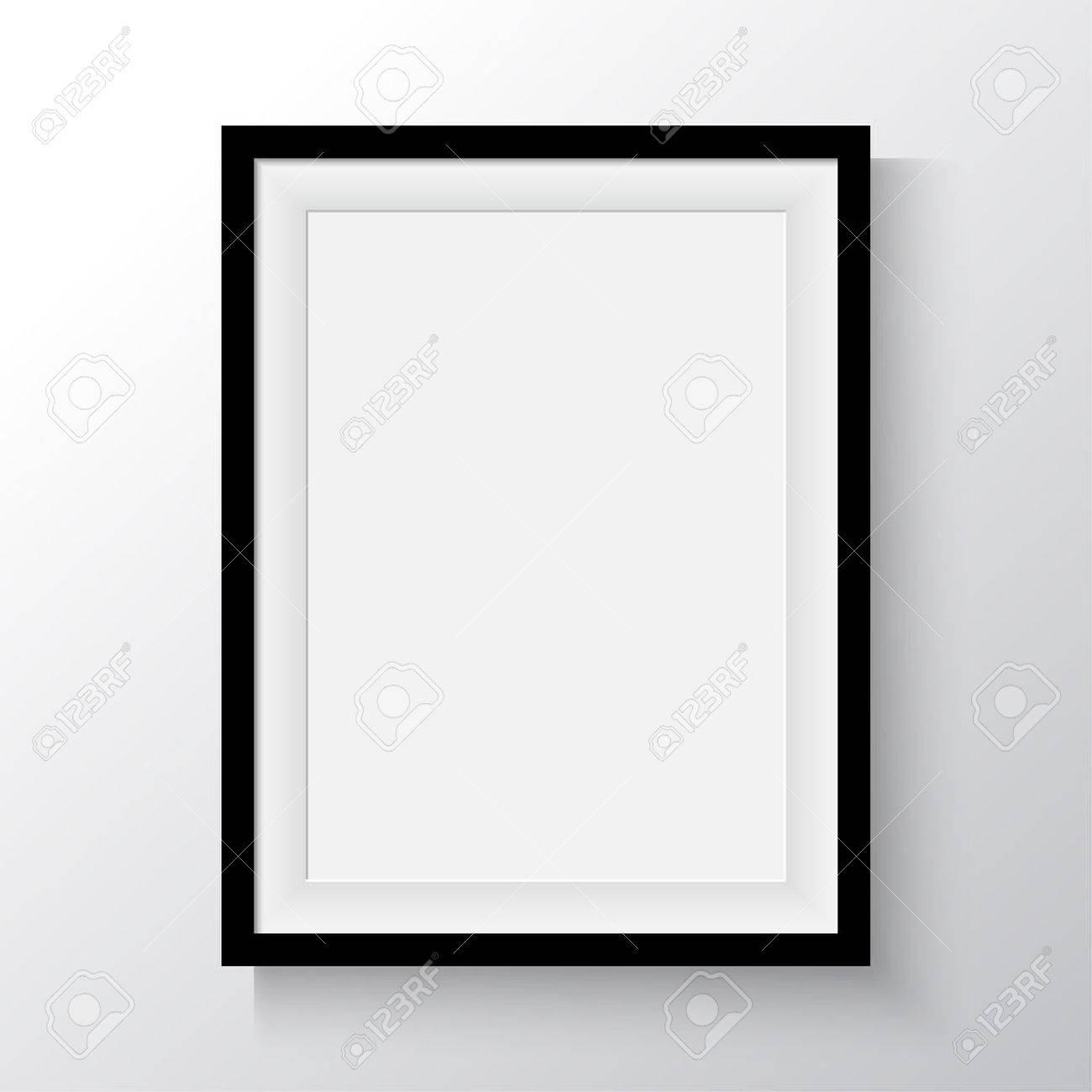 Marco Negro Para Pinturas O Fotografías En La Pared. A4, A3 Papel ...