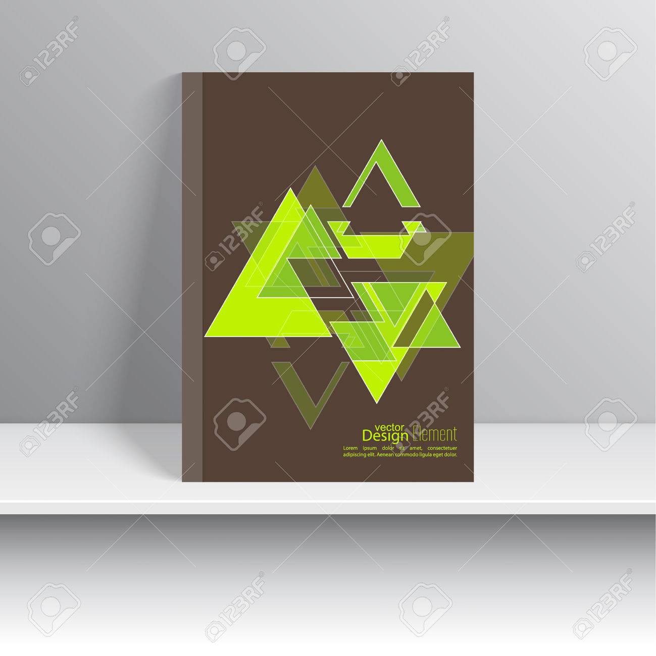 Magazine cover with glossy pyramids triangles for book brochure magazine cover with glossy pyramids triangles for book brochure flyer poster reheart Images