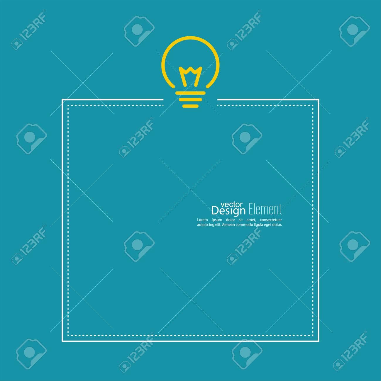 Bulb Light Idea. Flat Design. Concept Of Ideas Inspiration ...