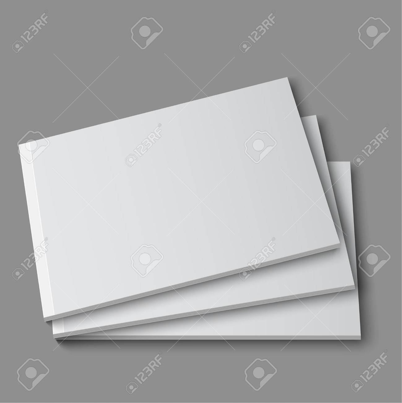 Revista En Blanco Vacío, álbum O Plantilla Libro Acostado En Un ...