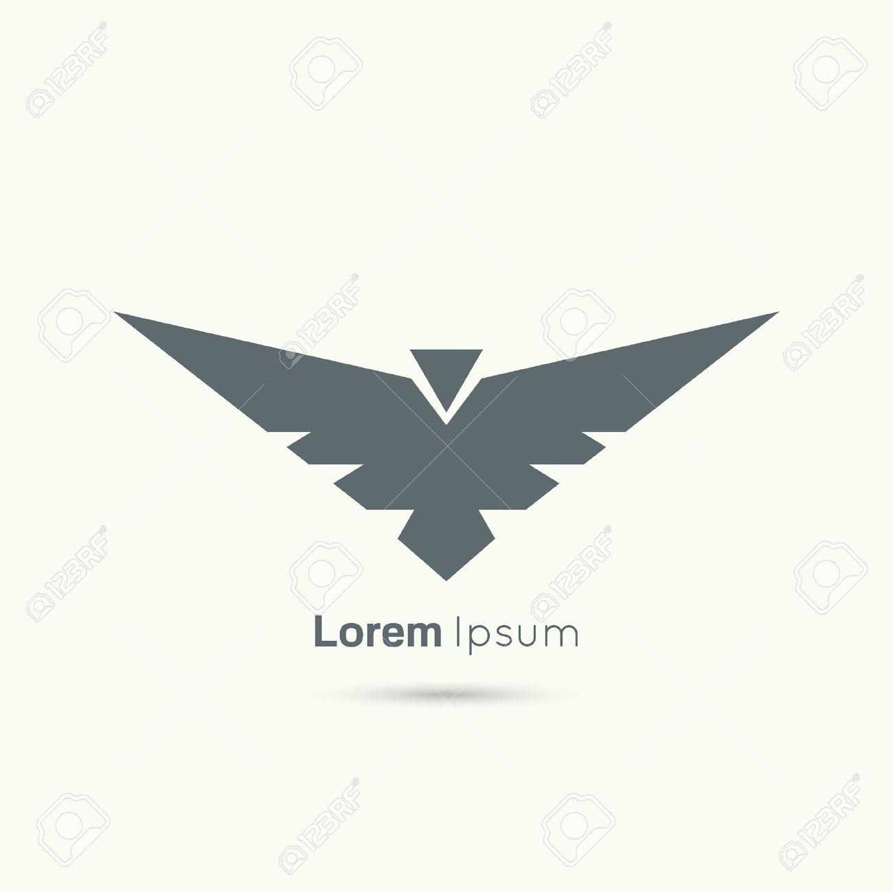 Zusammenfassung Vektor-Logo-Design-Vorlage. Fliegende Vogel Mit ...