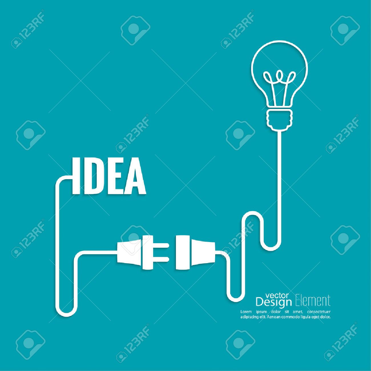 Bulb Light Idea. Concept Of Big Ideas Inspiration Innovation ...