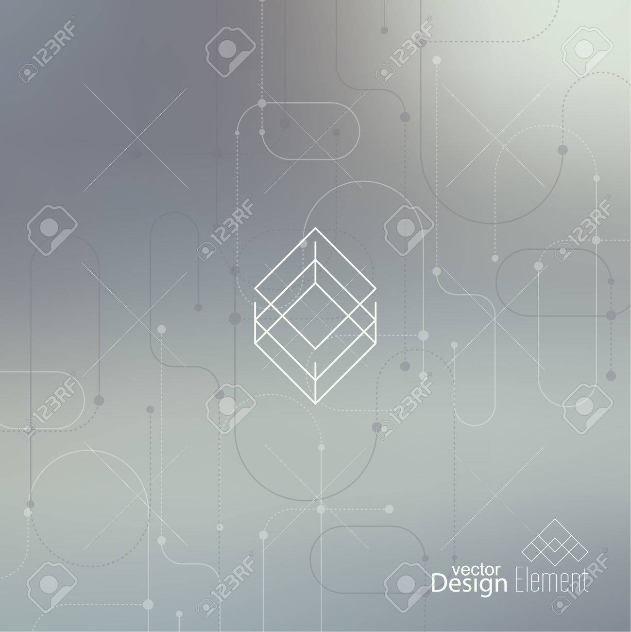 Abstract neat Blurred Background. Hipster Geometric shape, line and dot. Modern Signs, Label. For cover book, brochure, flyer, poster, magazine, cd, website, app mobile, annual report, T-shirt, logo - 41716798