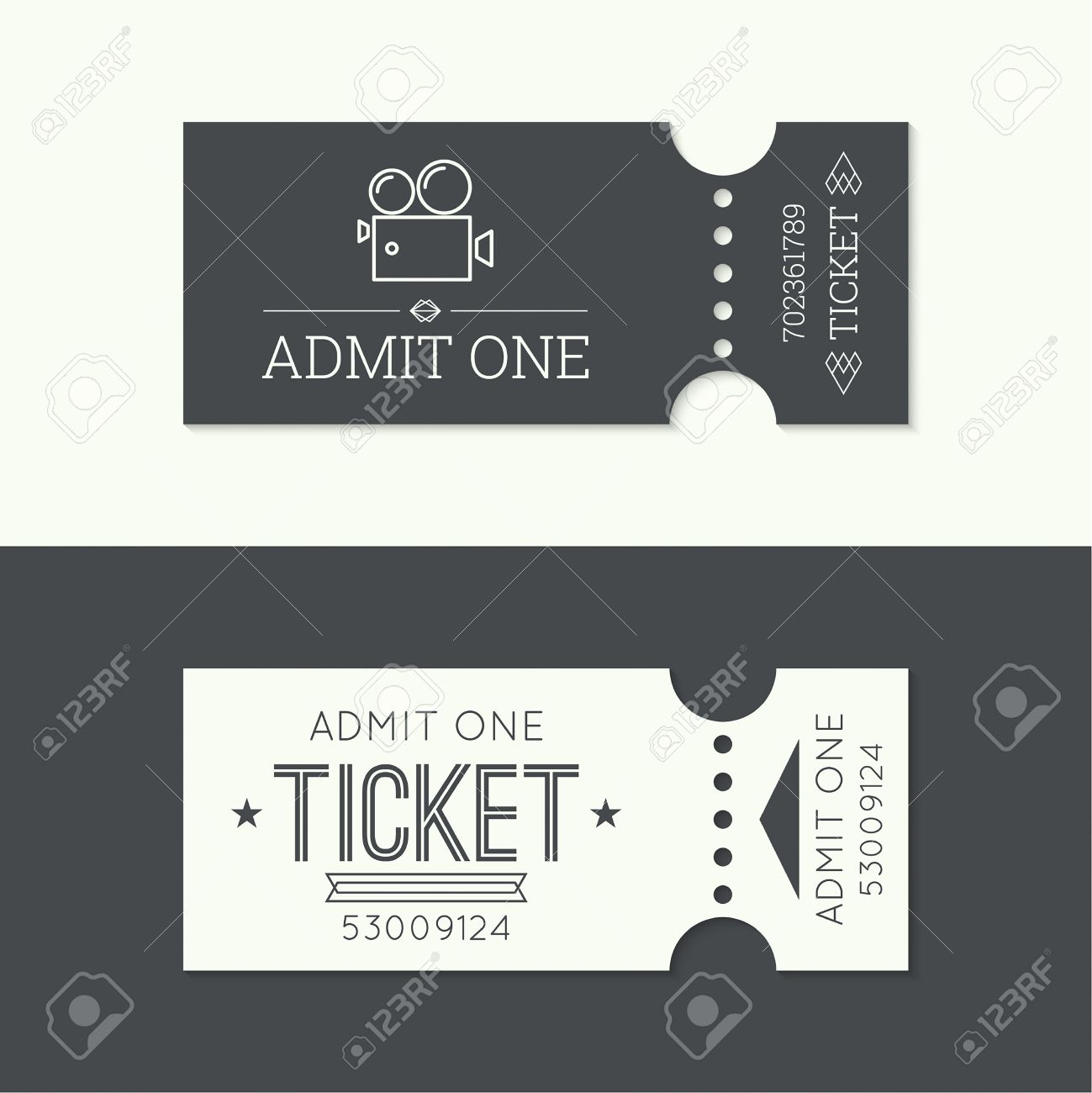 3279 Concert Ticket Vector Illustration And Royalty Free – Ticket Design Online Free