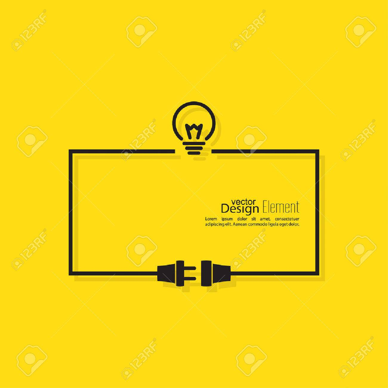 Abstract background with wire plug and socket. Concept connection, connection, disconnection, electricity. Flat design. Including the idea. The thought process - 41725655