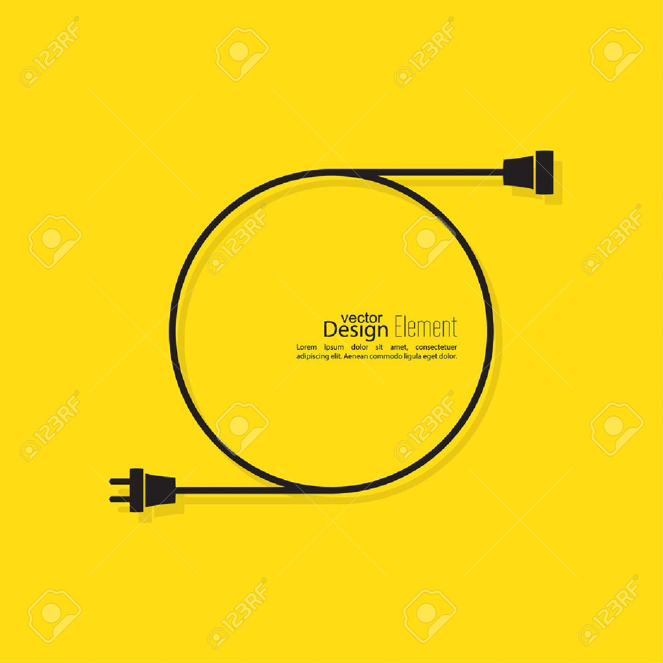 Abstract Background With Wire Plug And Socket. Concept Connection ...