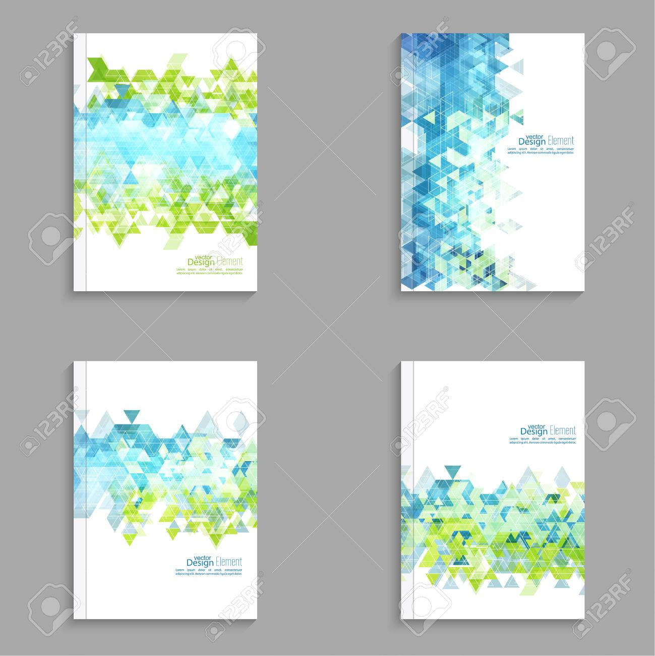 Magazine cover with hipster triangles for book brochure flyer for book brochure flyer poster booklet leaflet cd cove postcard business card annual report abstract background cyan green reheart Images