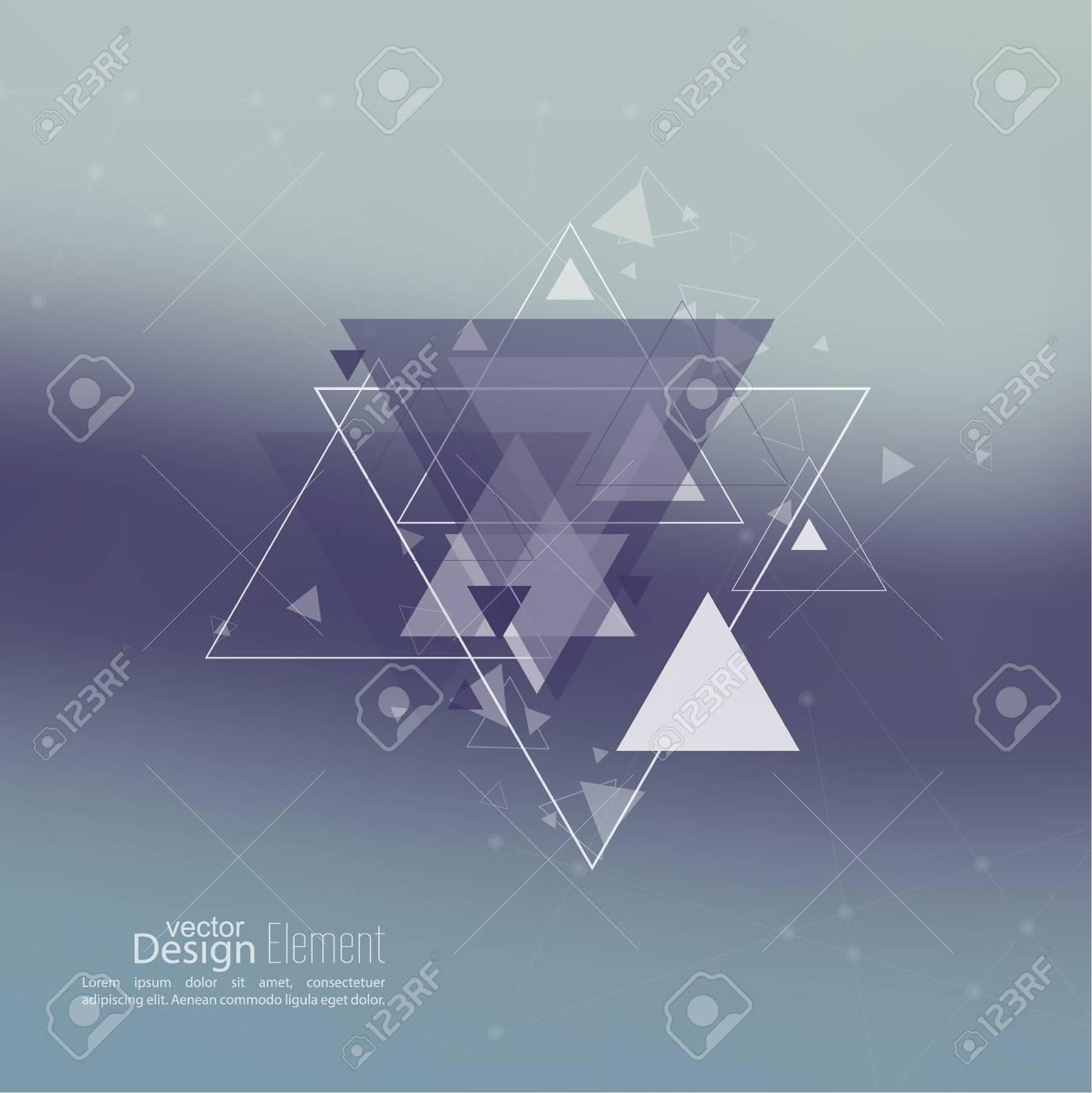 Fondo Borroso Abstracto Con Triángulos De Hipster Fondo De