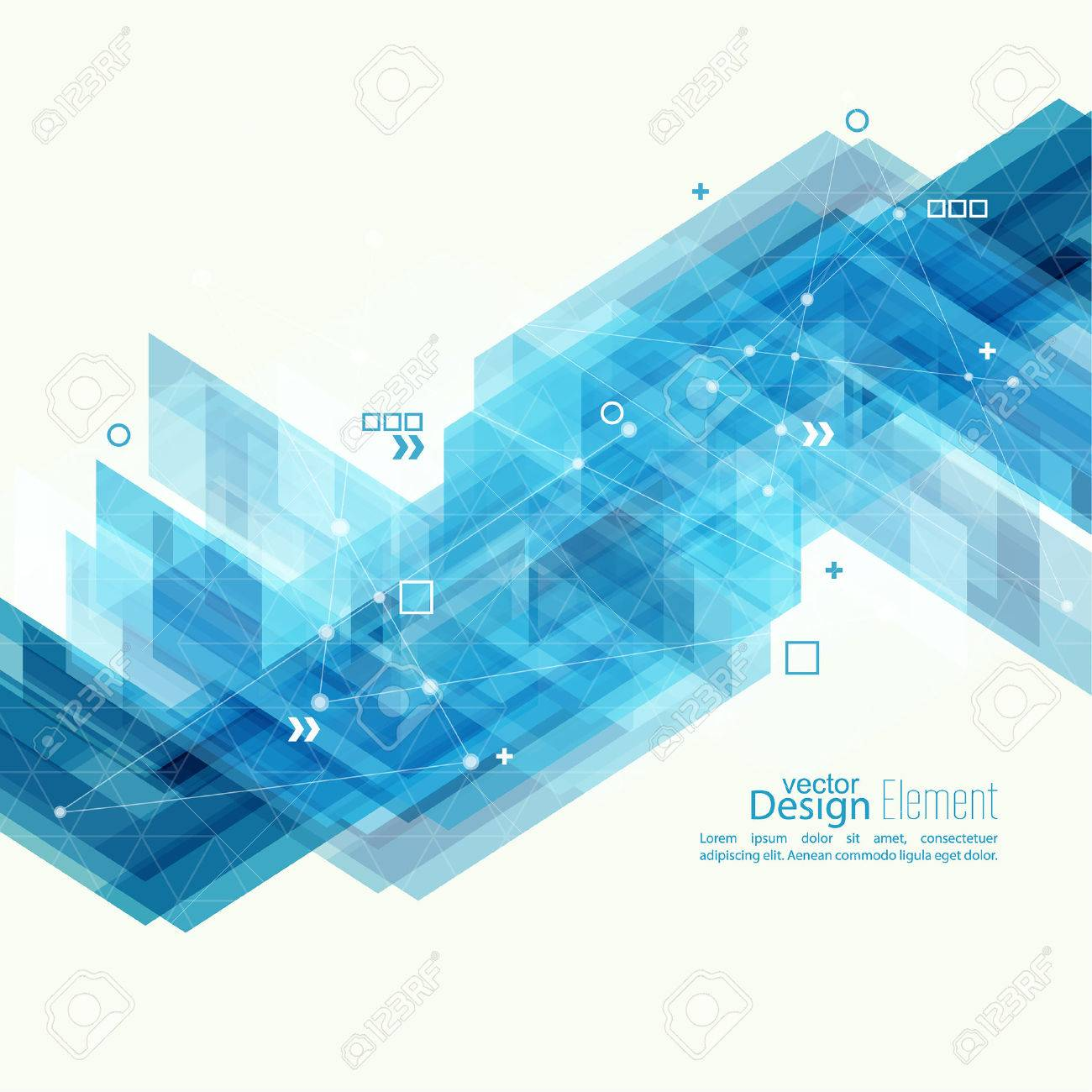 Abstract background with blue stripes corner. Concept new technology and dynamic motion. Digital Data Visualization. For cover book, brochure, flyer, poster, magazine, booklet, leaflet - 47784170
