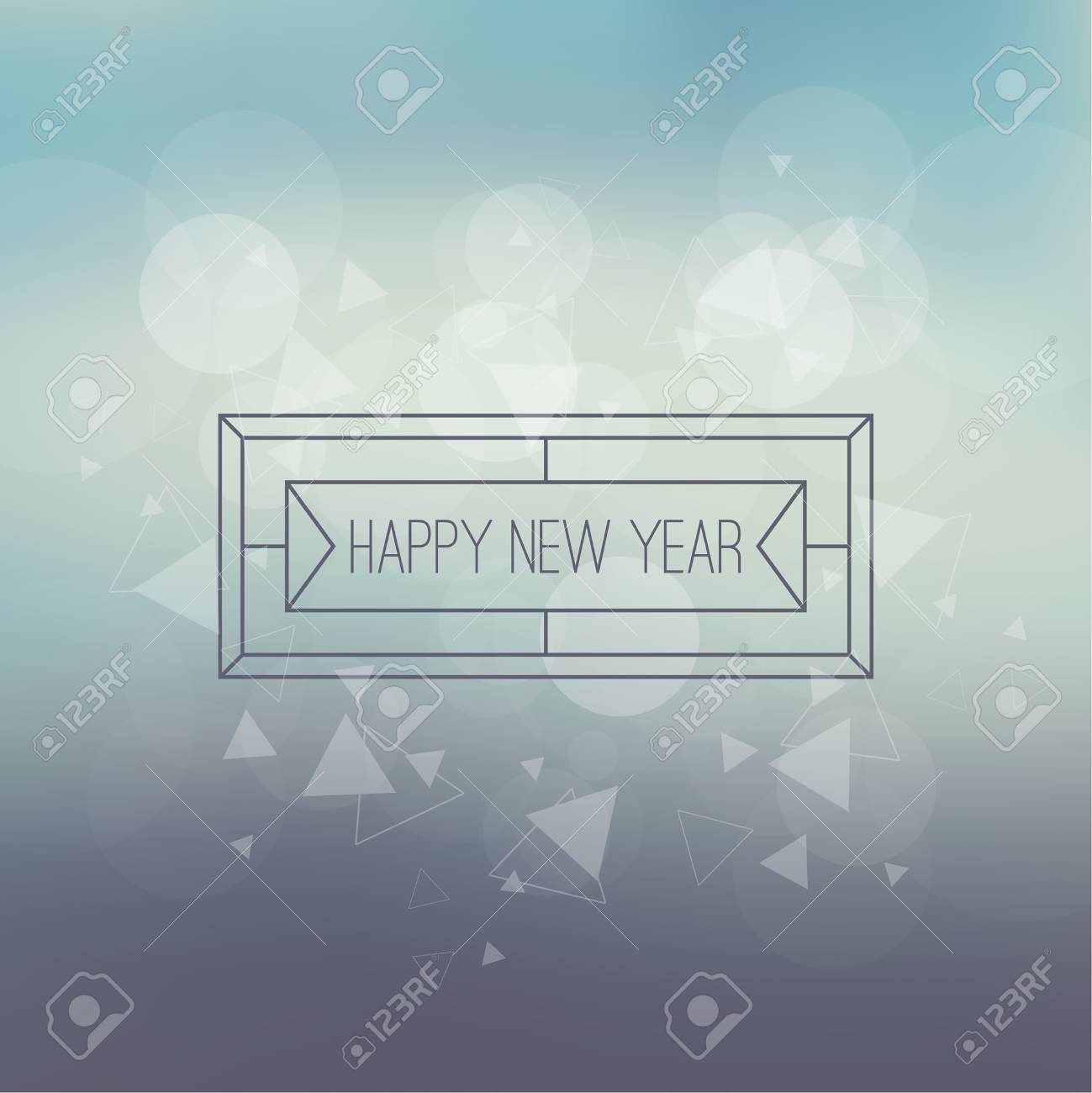 abstract blurred vector background with sparkle stars and hipster border frame for decorations for