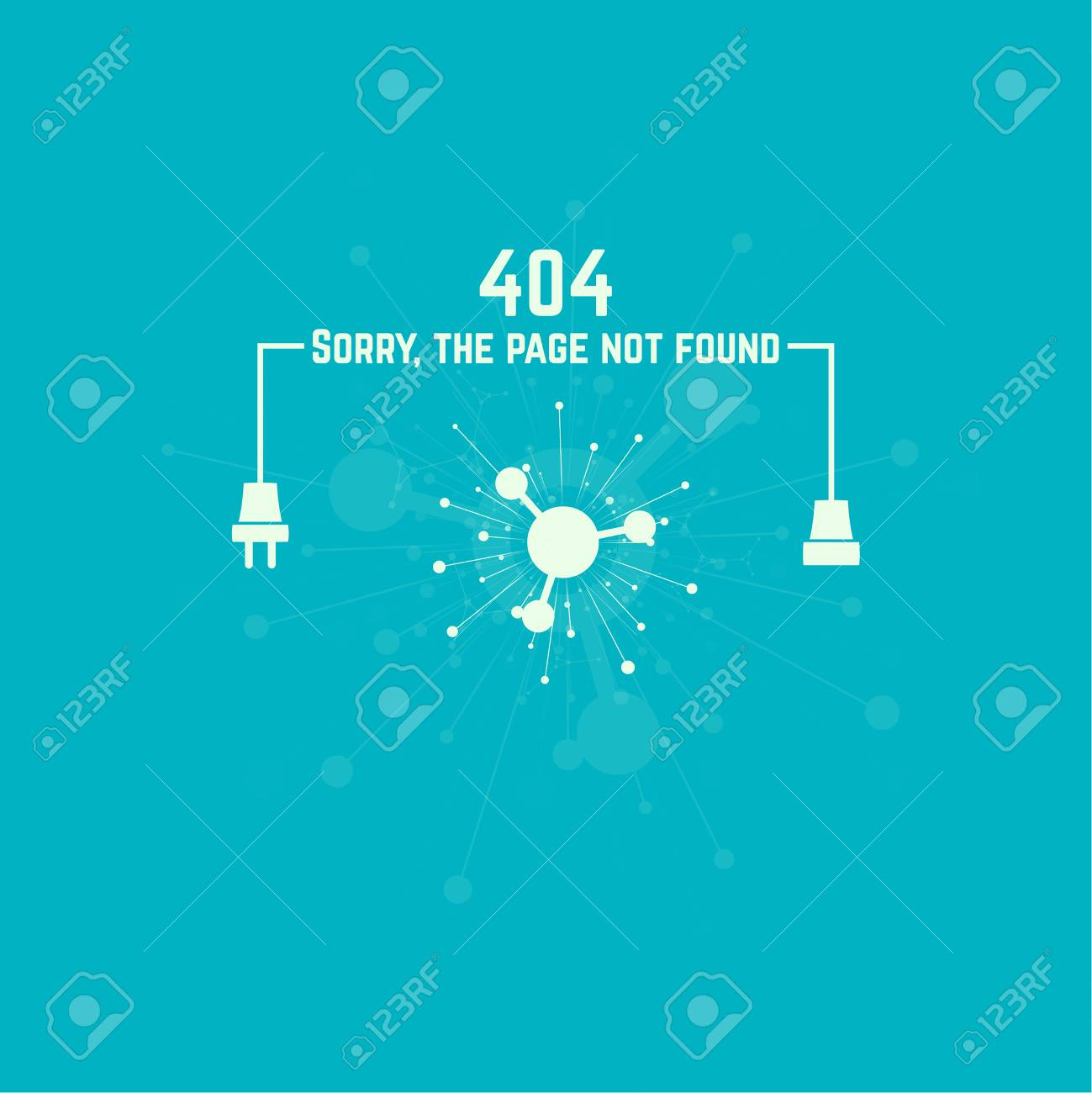 404 Connection Error. Abstract Background With Wire Plug And ...