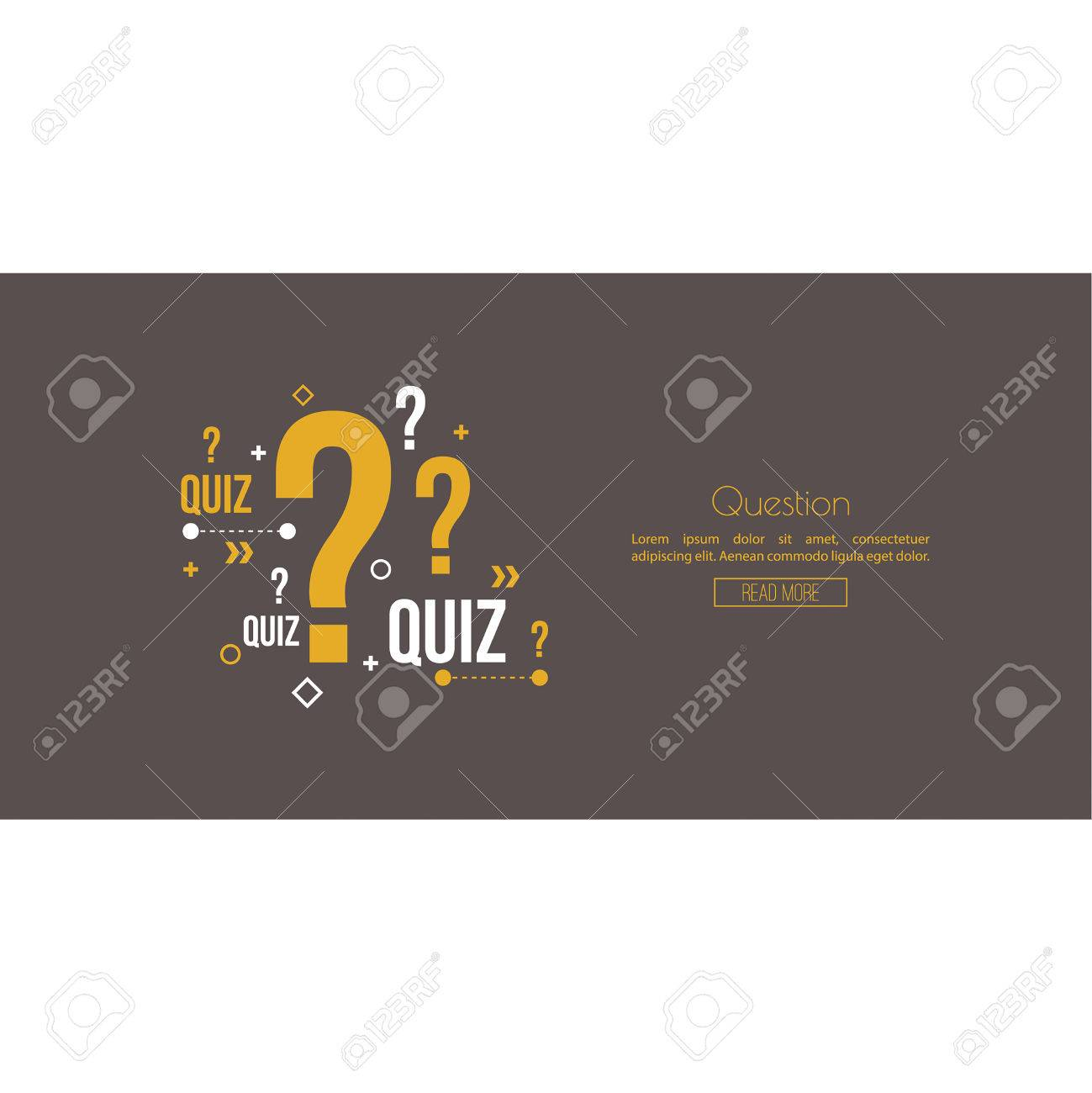Quiz background  The concept is the question with the answer