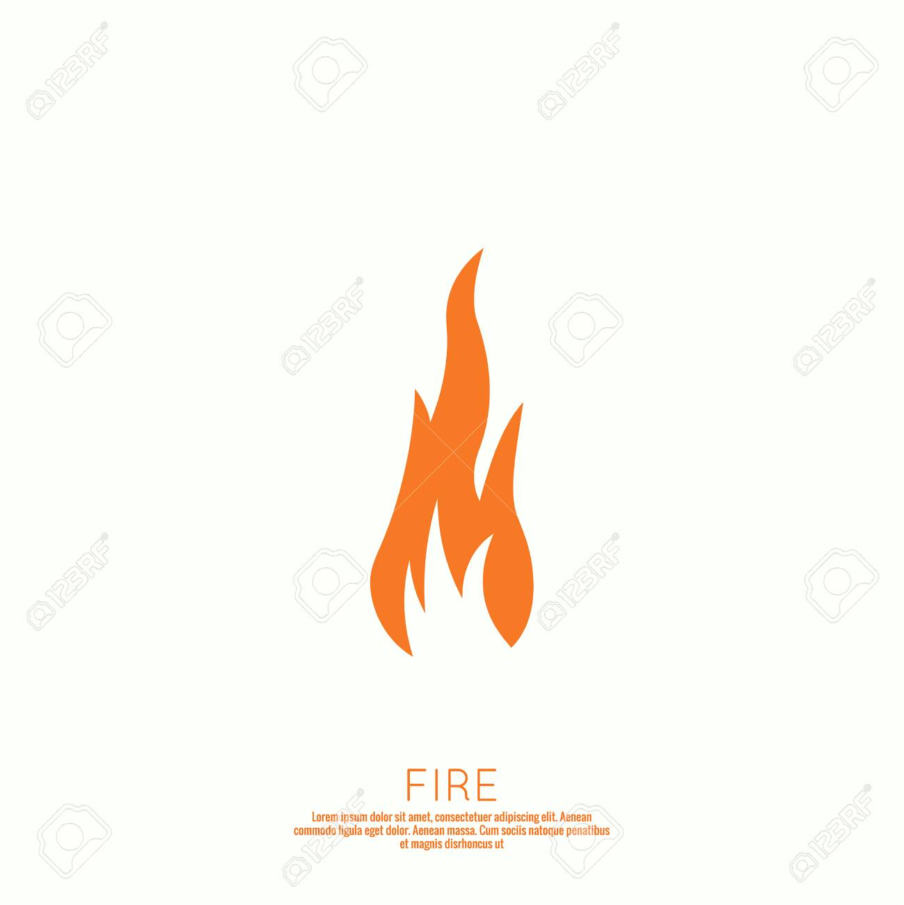 Fire flames. Icon. vector logo design template.