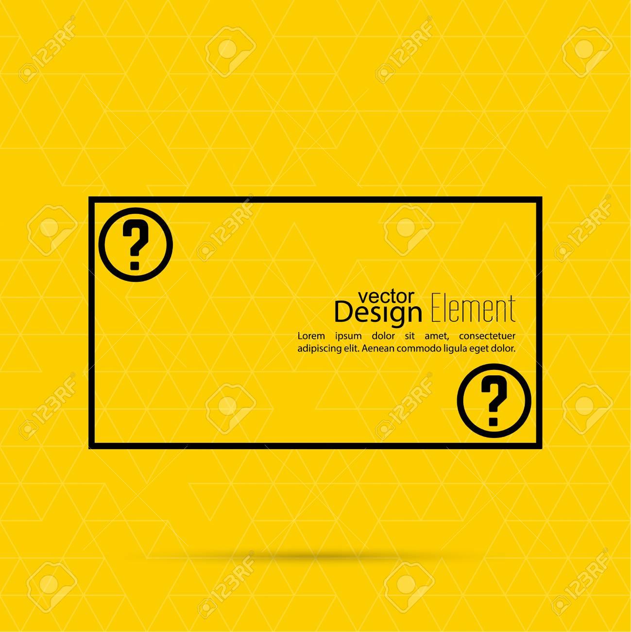 Question Mark Blank Template. Help Symbol. FAQ Sign Icon. Empty ...