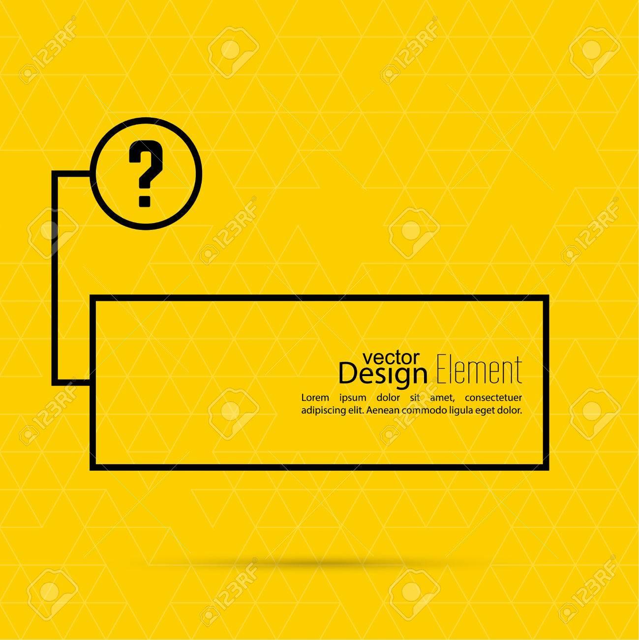 Question Mark Blank Template Help Symbol Faq Sign Icon Empty