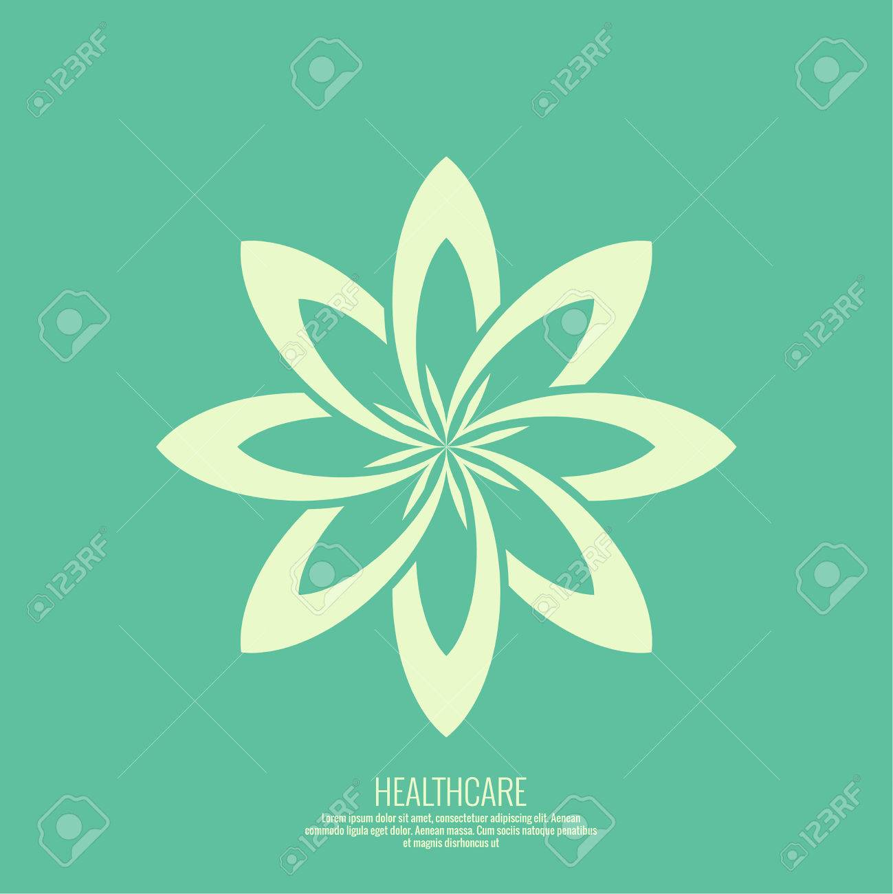 Abstract Vector Element Lotus Flower Icon For Beauty Healthcare