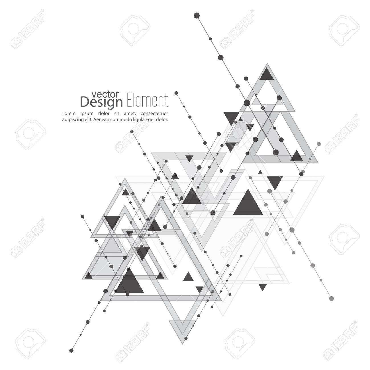 Abstract Vector Background With Geometric Shapes Intersecting