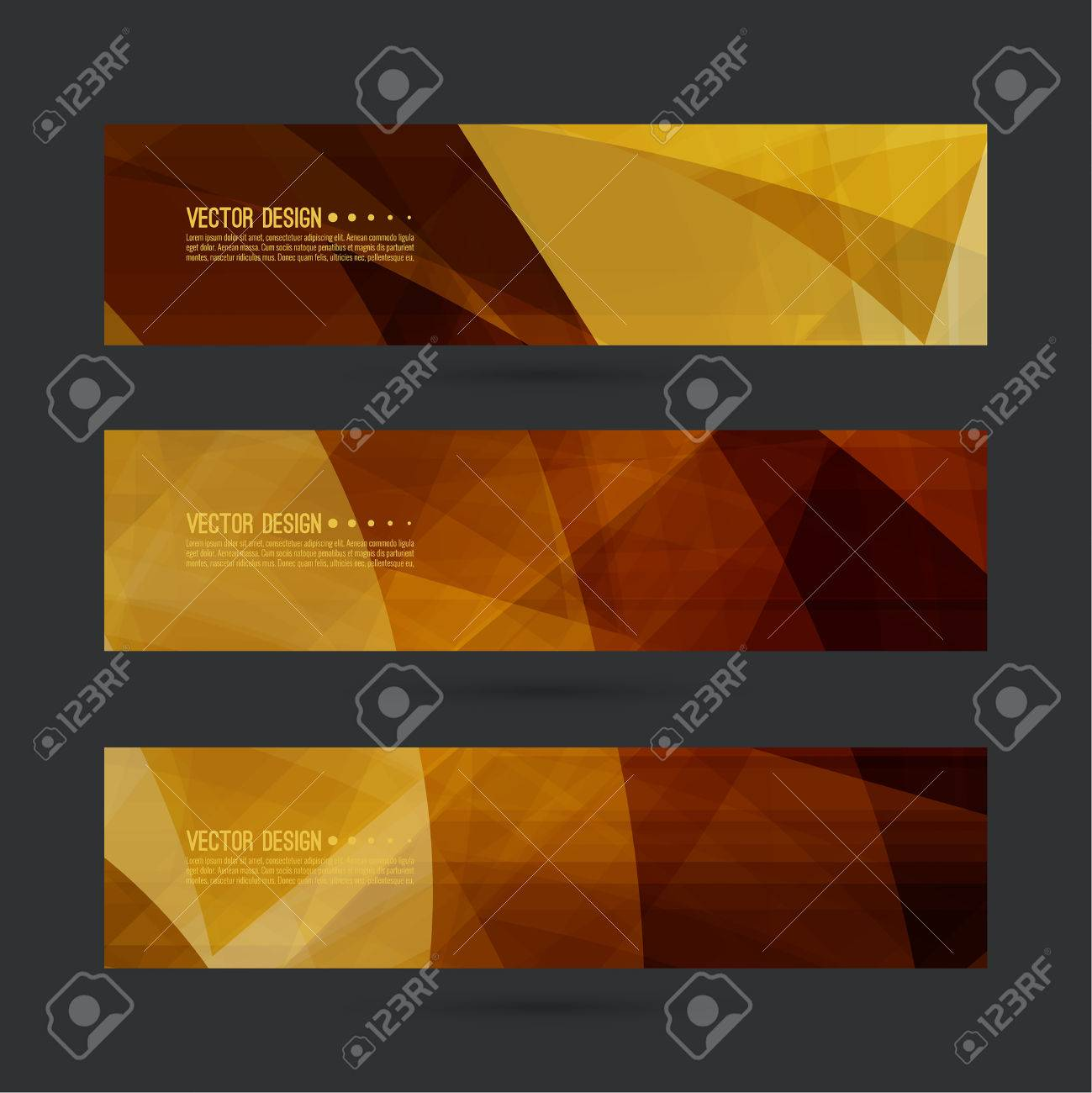 Set of abstract vector banners, header  Luxury title  Layout