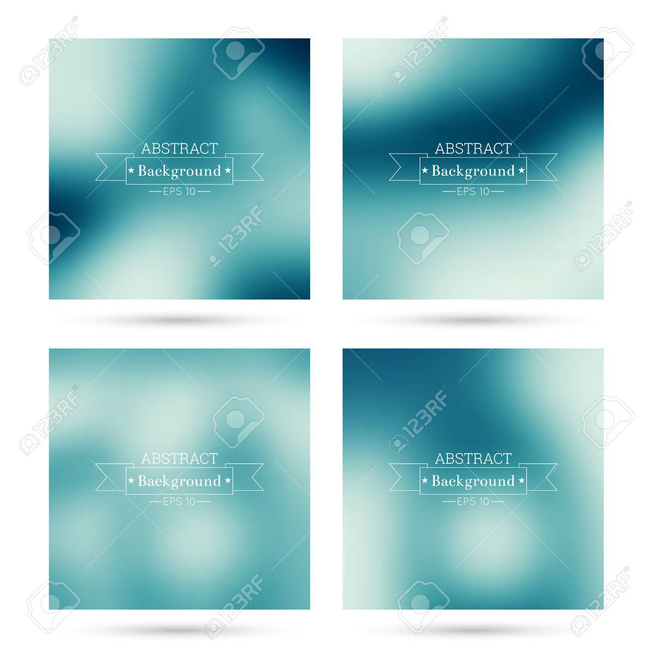 set of vector colorful abstract backgrounds blurred for mobile