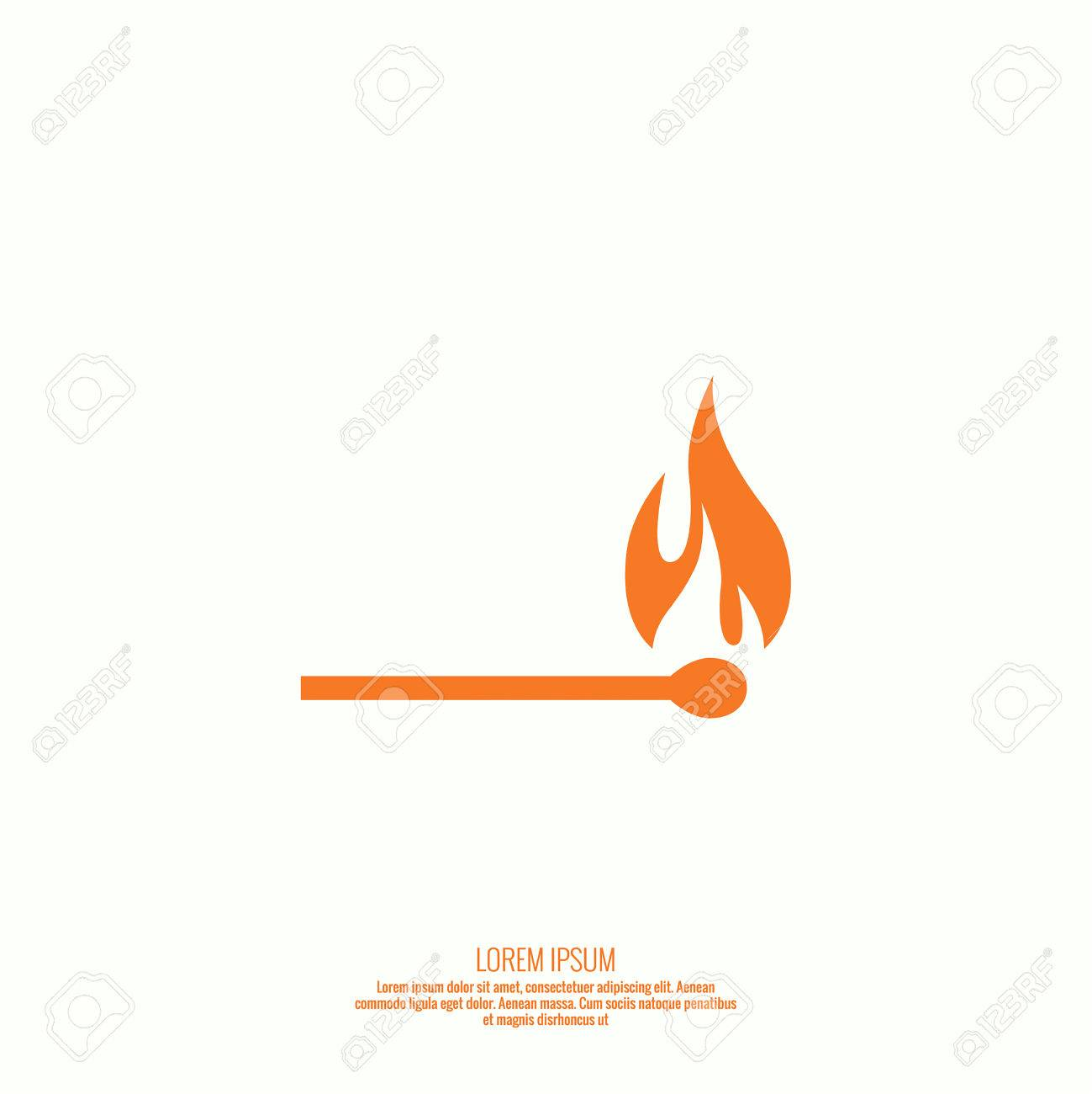 Fire Flames. Icon. Vector Logo Design Template Royalty Free Cliparts ...