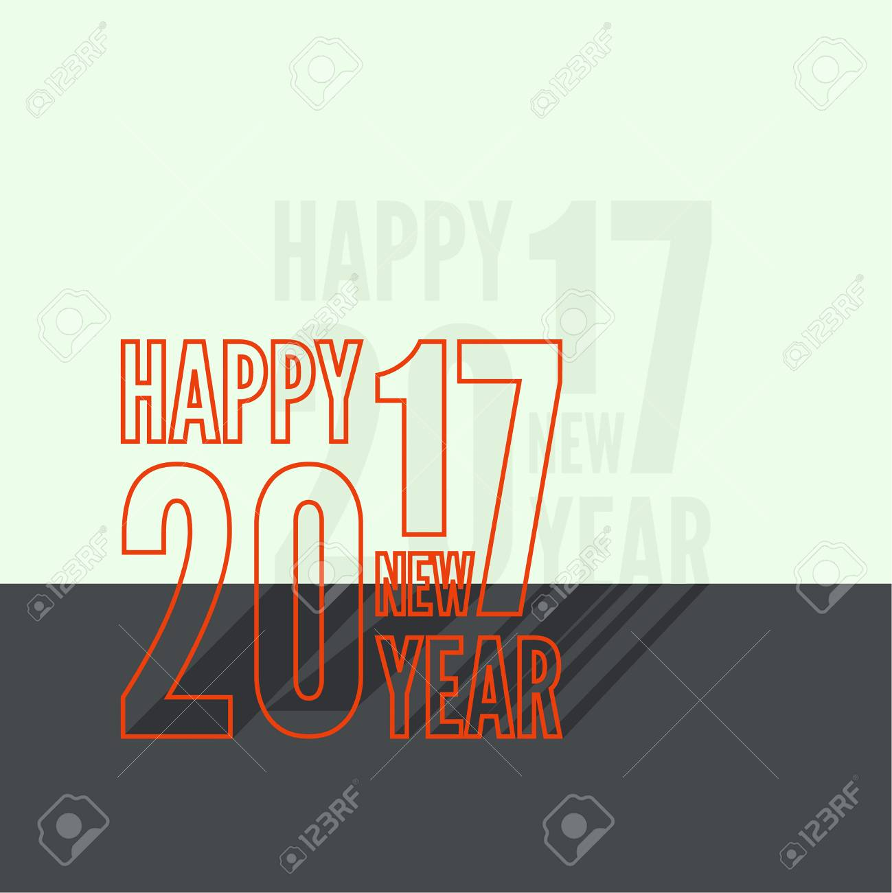 2017 Happy New Year Background For Greeting Card Flyer Invitation