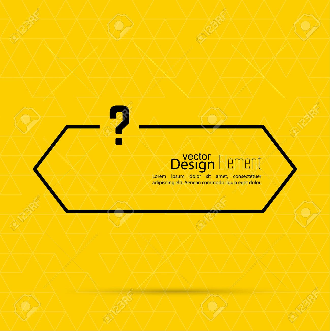 Question mark blank template  Help symbol  FAQ sign icon  Empty