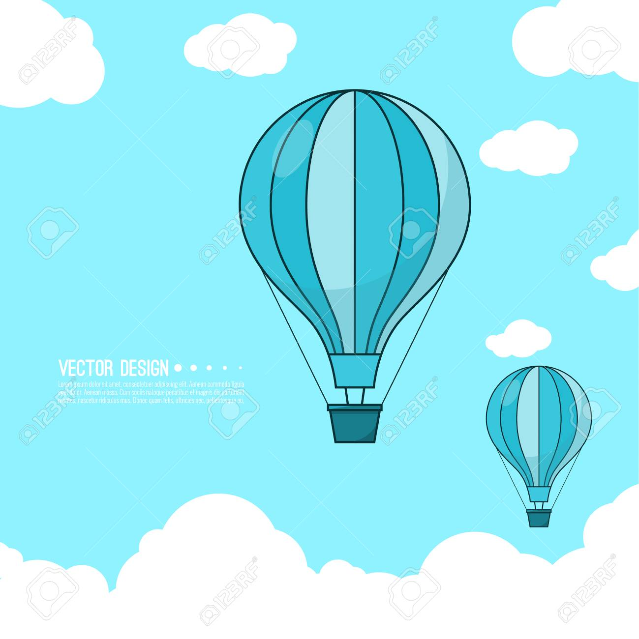 Hot Air Balloon Template Royalty Free Cliparts, Vectors, And Stock ...