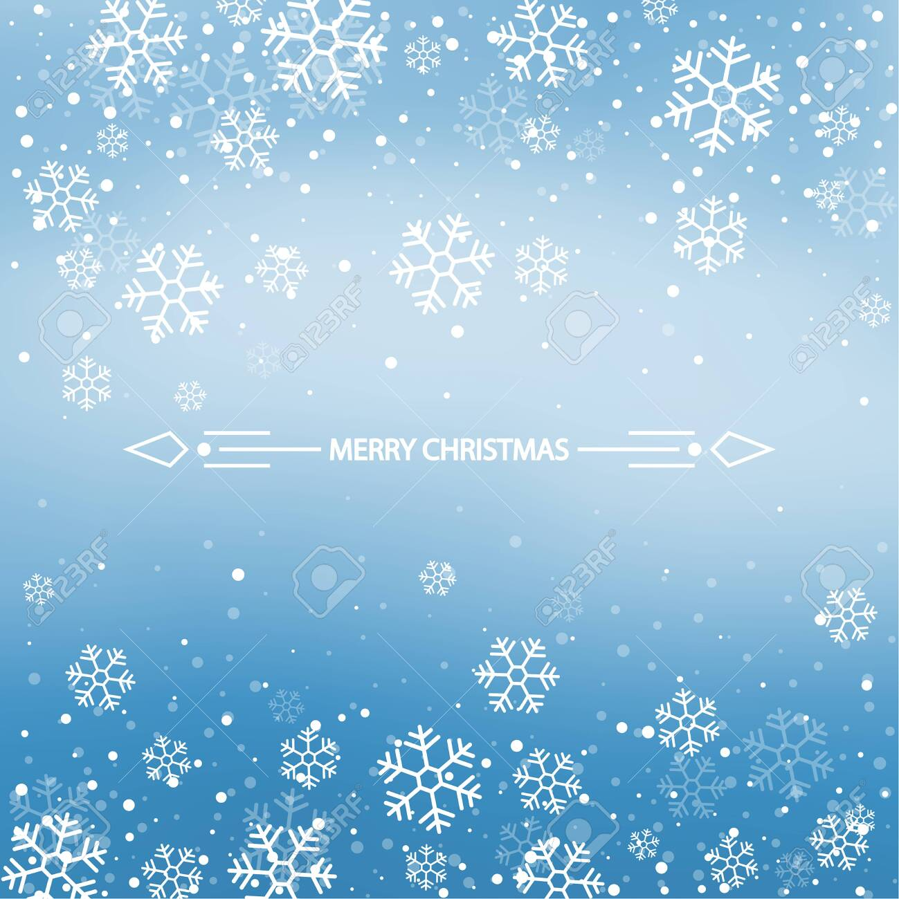 Christmas winter blue background. - 135228659