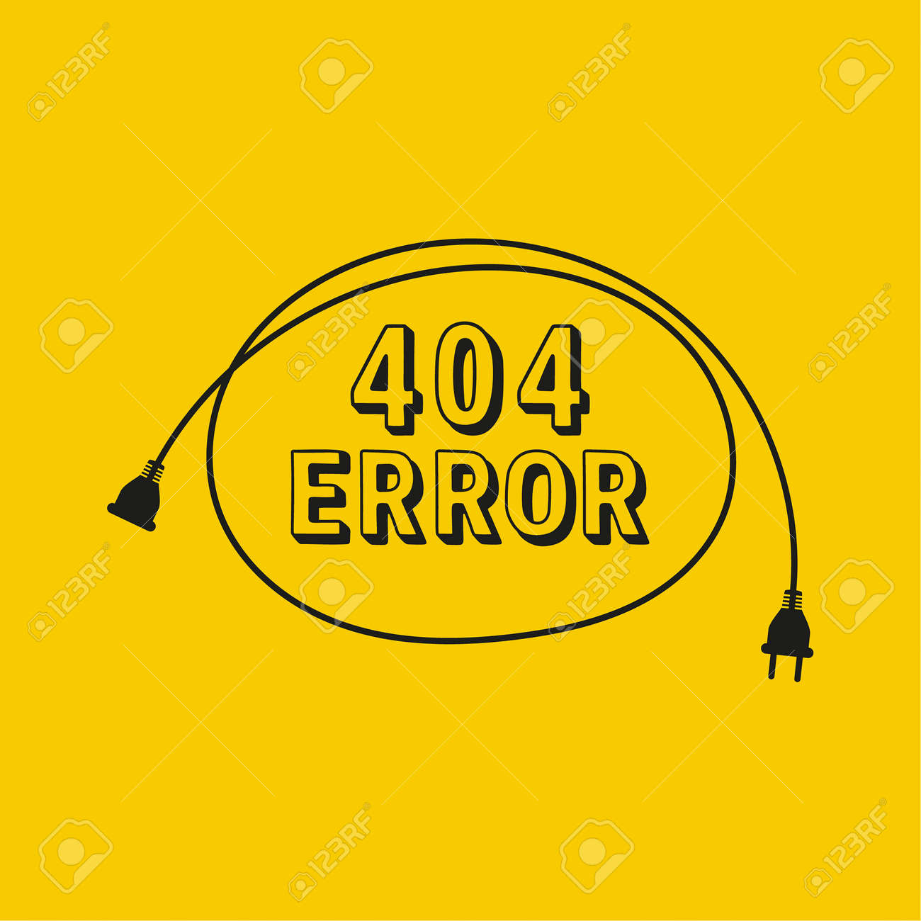 404 connection error. Vector abstract background - 172255116