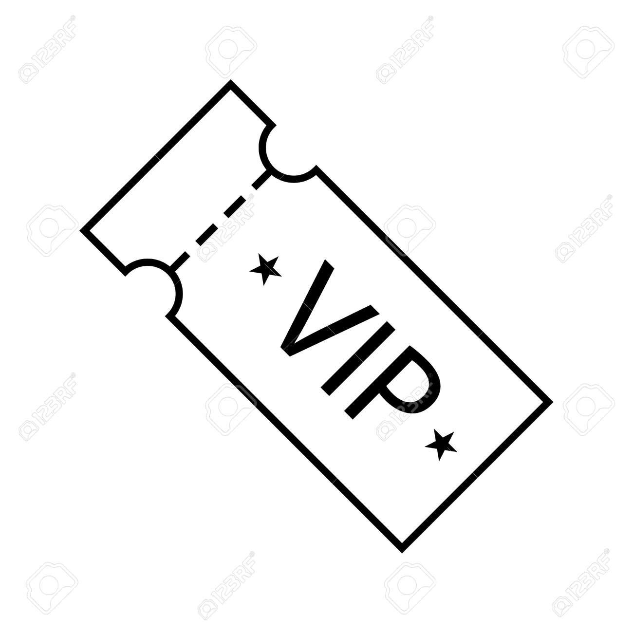 Vector icon of vip ticket - 172535582